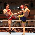 後楽園ホールでNKBキックボクシングの試合撮影