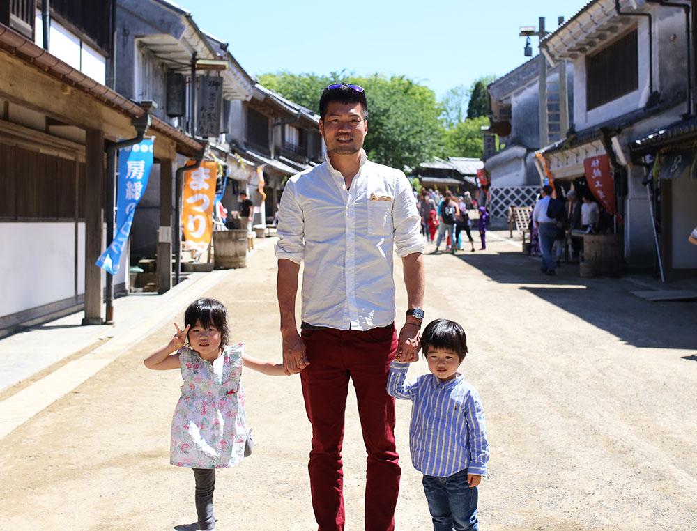 子供たちと田舎街へ