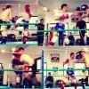 キックボクシングの試合