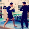キックボクシングジムの撮影