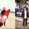 志田下ポイントにてサーフィン撮影